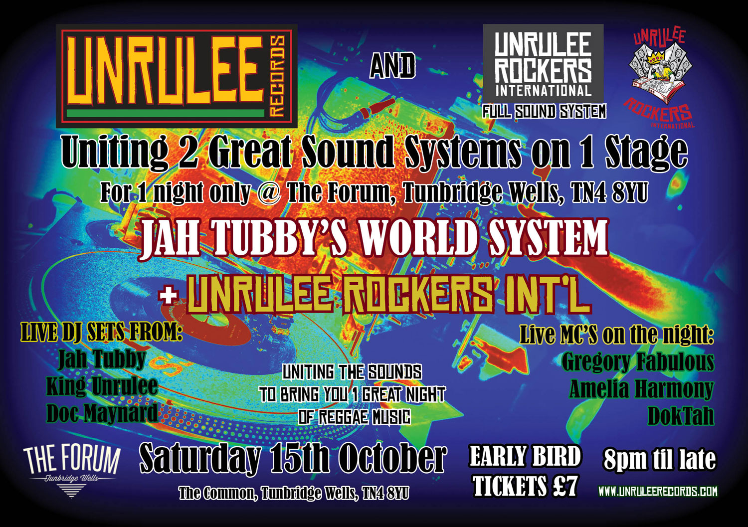 Jah Tubby's World System + Unrulee Rockers International