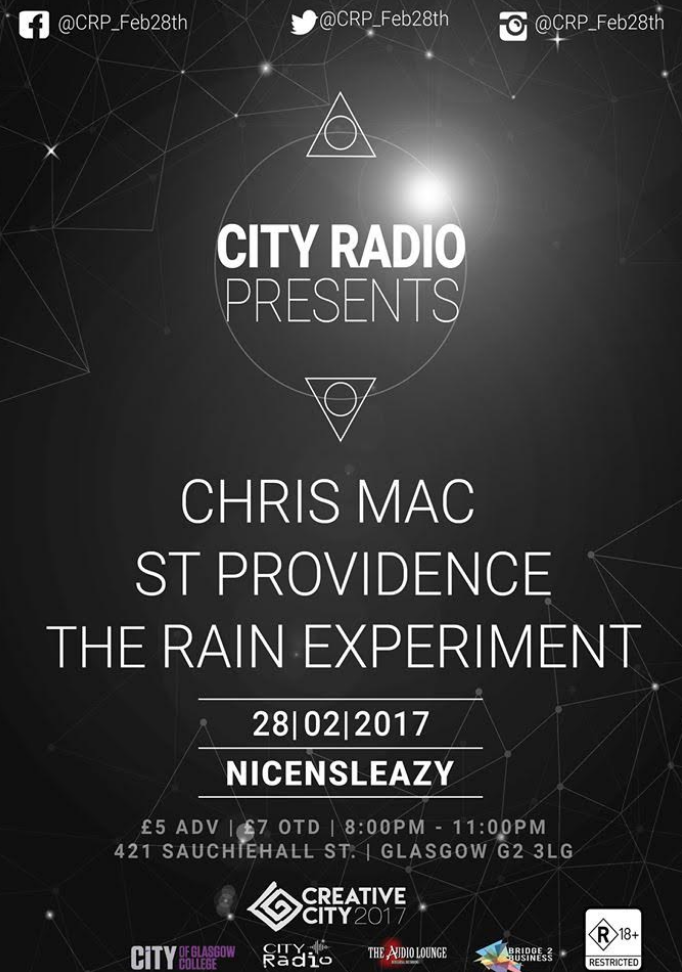 The Rain Experiment + St Providence + Chris Mac