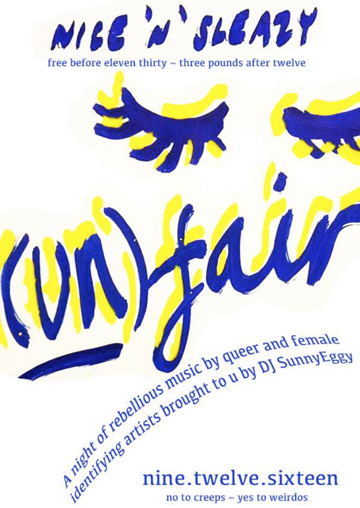 (UN)FAIR -  rebellious music by queer/female identifying artists