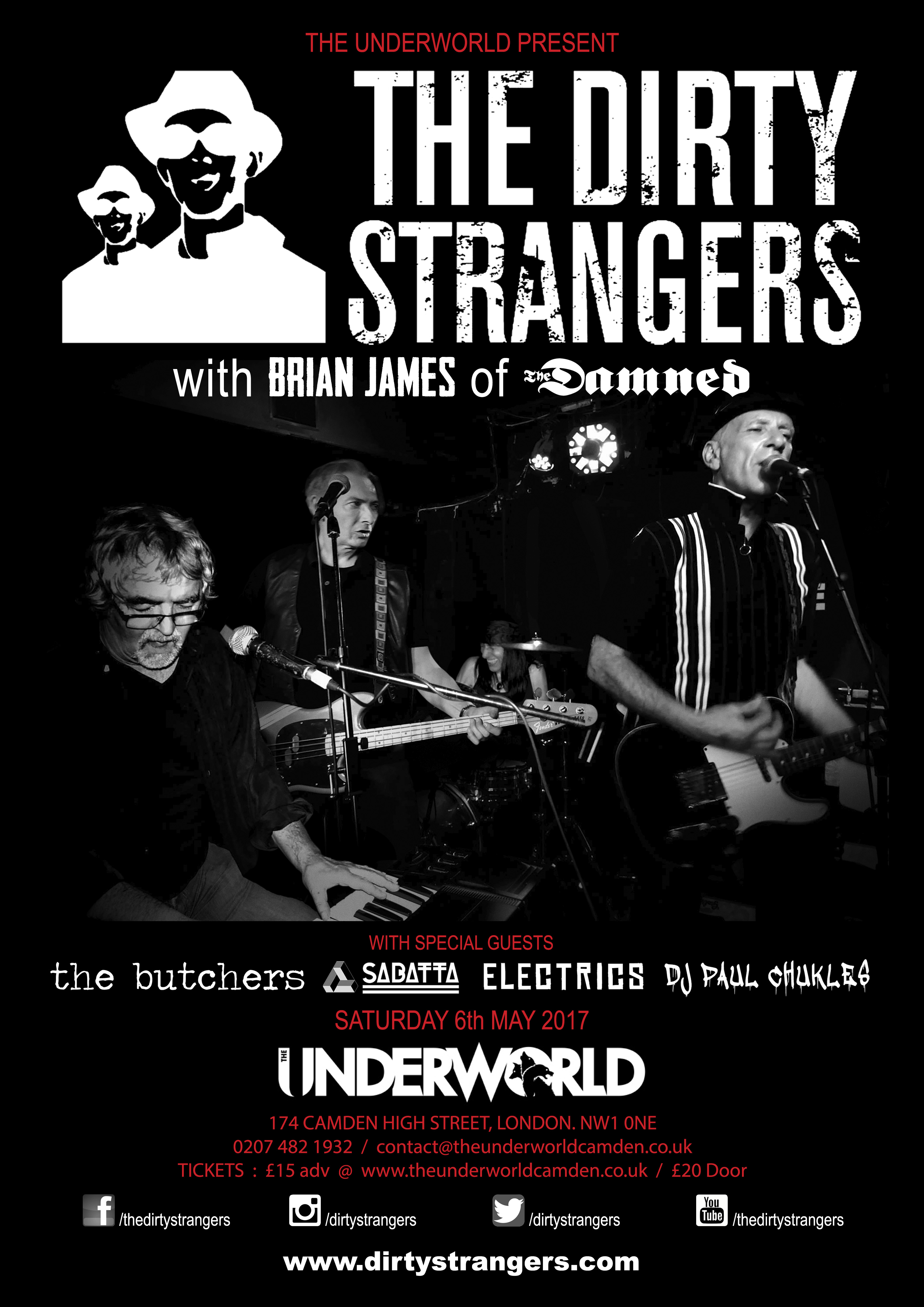 The Dirty Strangers w/ Brian James of The Damned