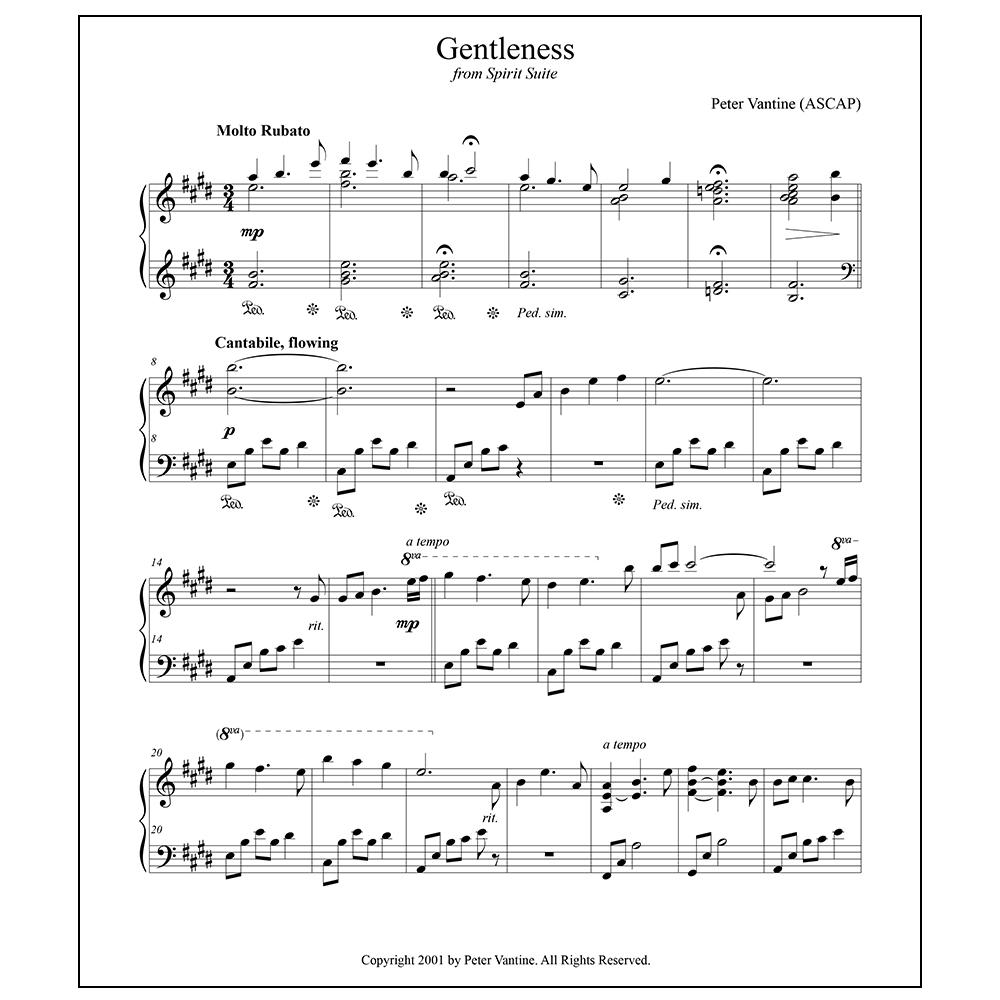 Spirit Suite: Gentleness (sheet music download) - Peter Vantine
