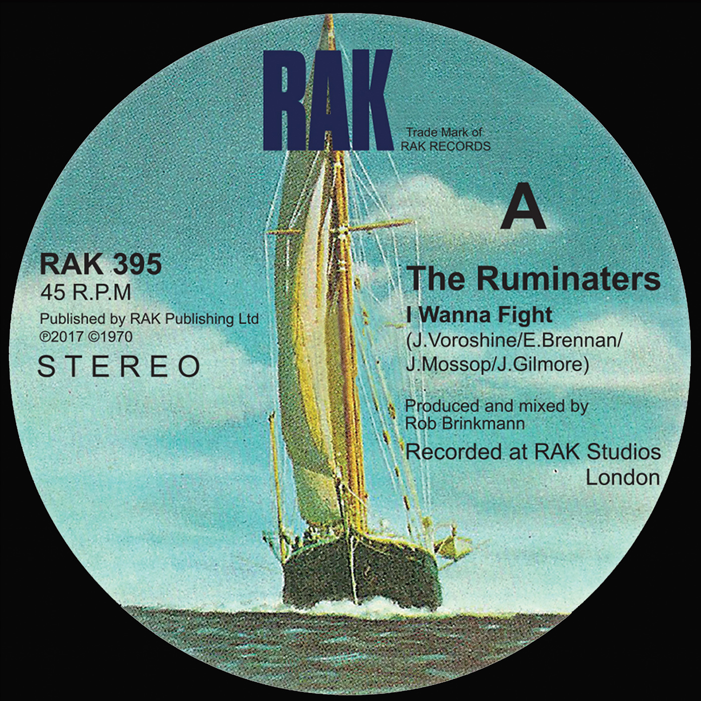 """The Ruminaters - I Wanna Fight / You Sexy Thing - 7"""" Vinyl + Digital Download - RAK"""