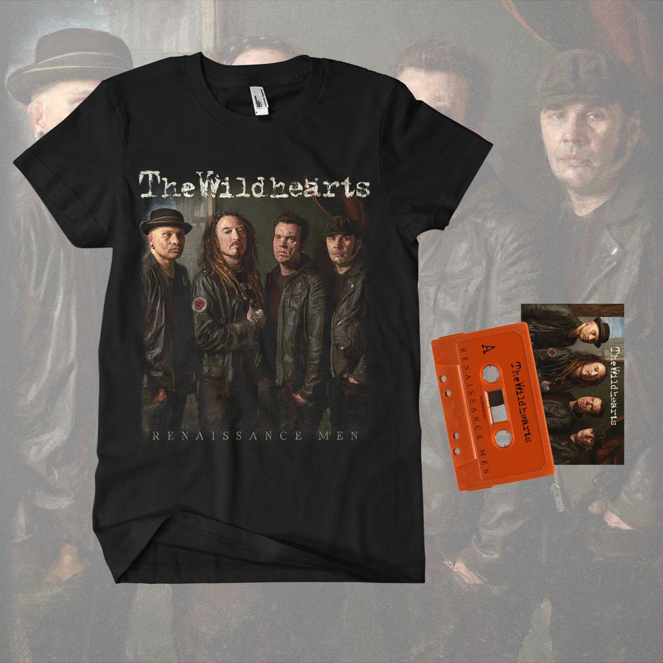 The Wildhearts - 'Renaissance Men' Limited Edition Cassette Tape & T-Shirt Bundle - The Wildhearts