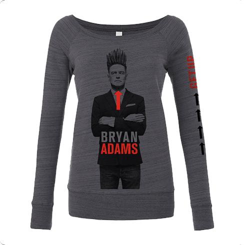 Hair Up 2016 - Womens Grey Sweatshirt - Bryan Adams