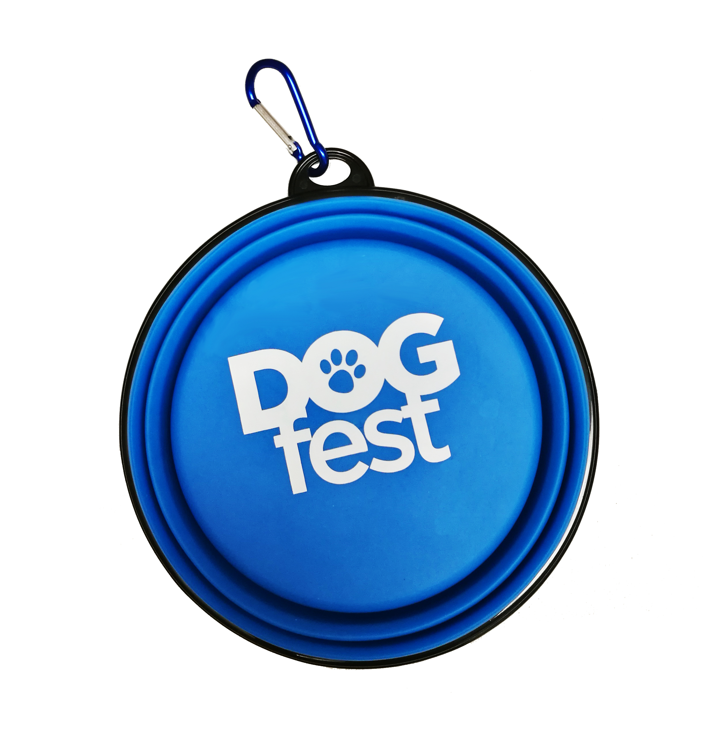 Dogfest Blue Collapsible Dog Bowl - Dogfest