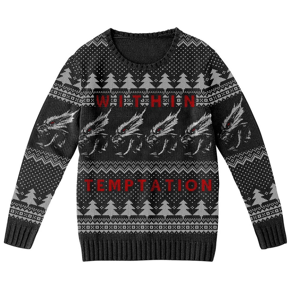 Xmas Dragons – Knitted Jumper - Within Temptation