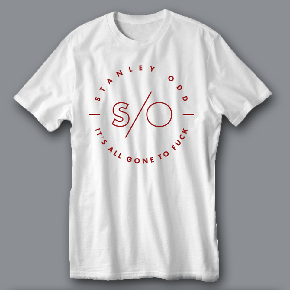 White 'It's All Gone To Fuck' T-Shirt - Stanley Odd
