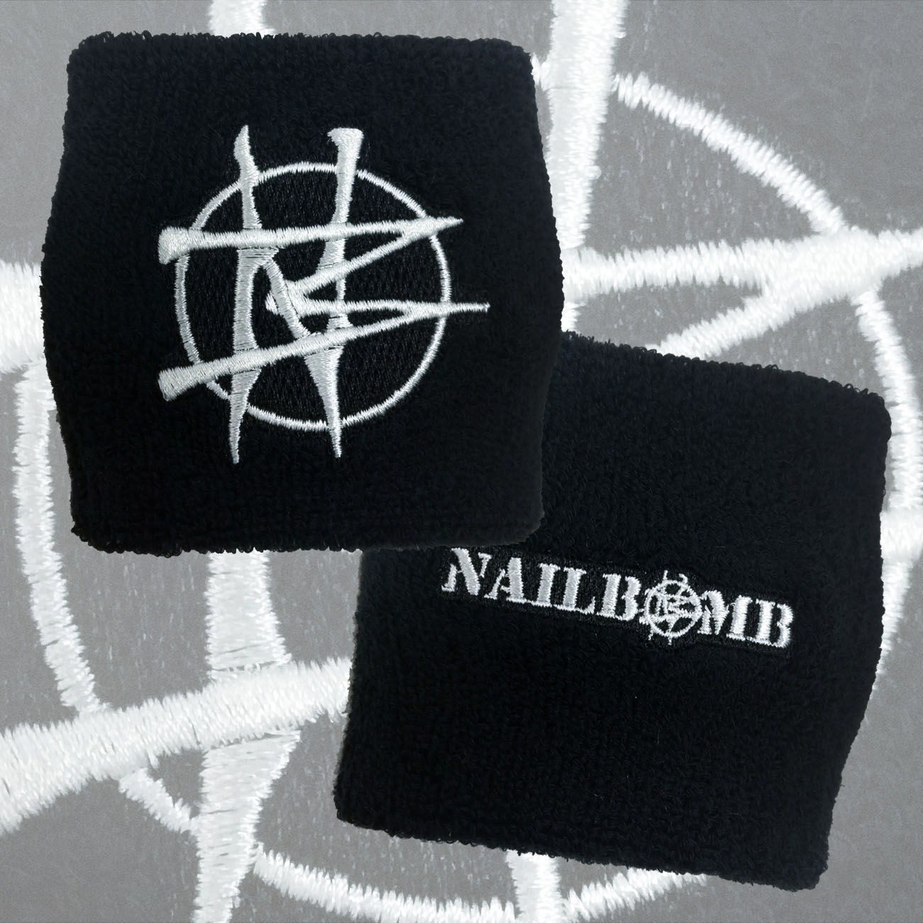 Nailbomb - 'Logo' Double Sided Wristband - Soulfly