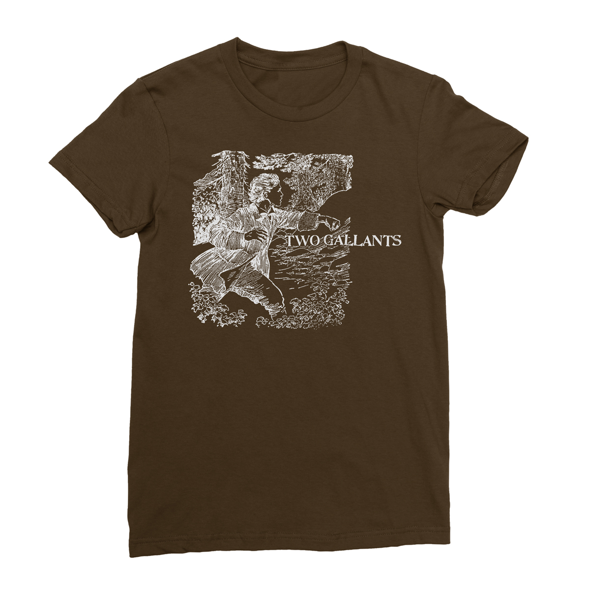 Forest/Throes Tee - Brown - Two Gallants