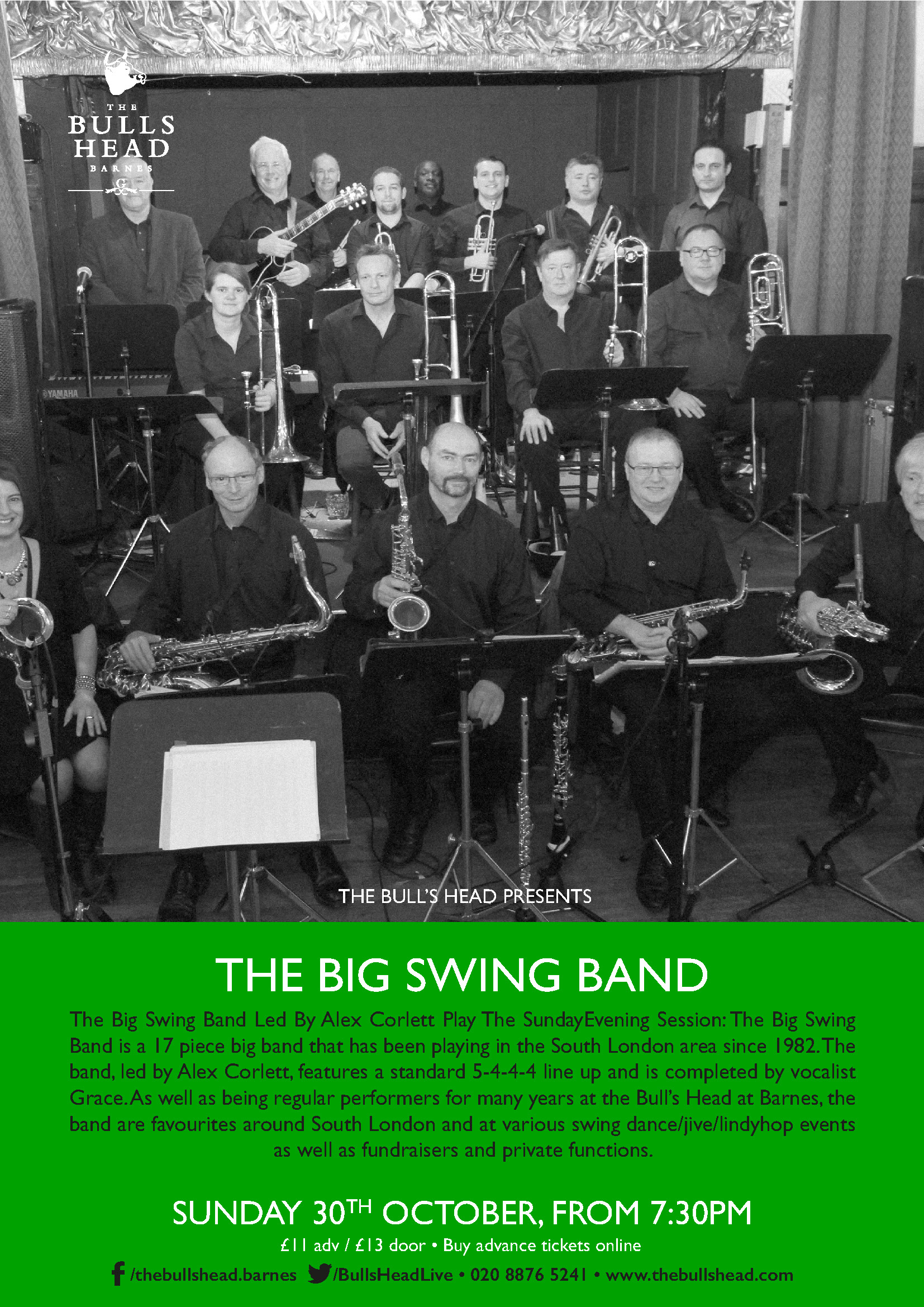 The Big Swing Band Led By Alex Corlett