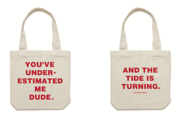 You've Underestimated Me, Dude tote bag - Kate Miller-Heidke