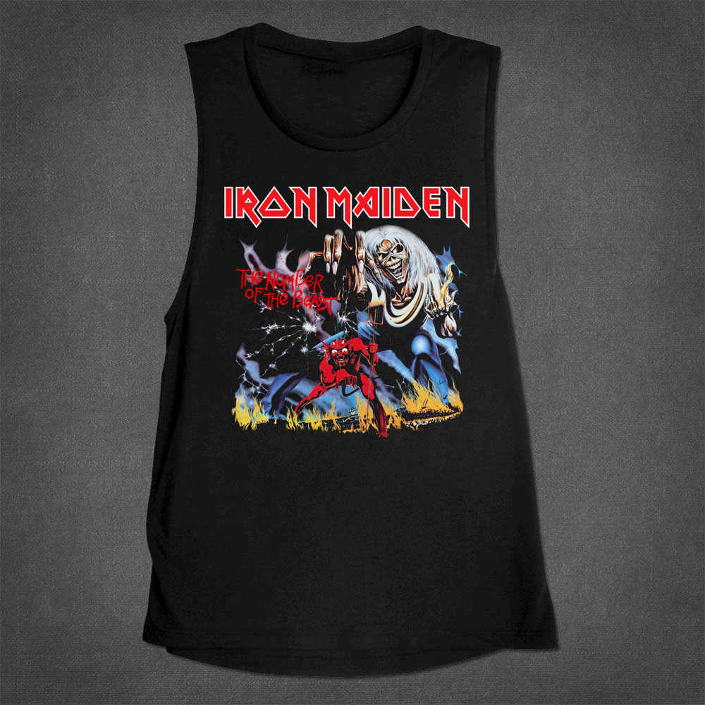 Number Of The Beast Muscle Tank - Iron Maiden [Global USA]