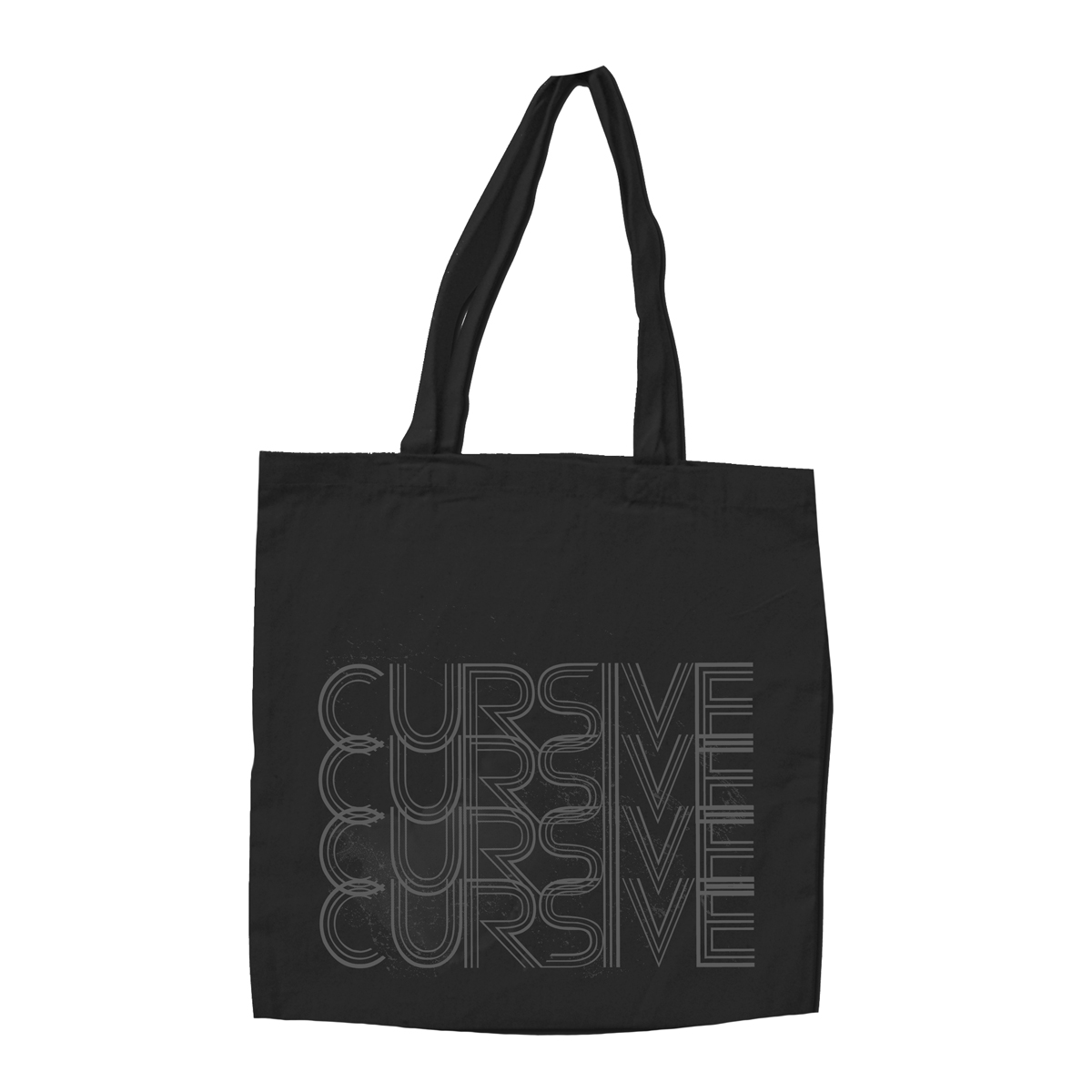 Grey Rainbow Totebag - Cursive