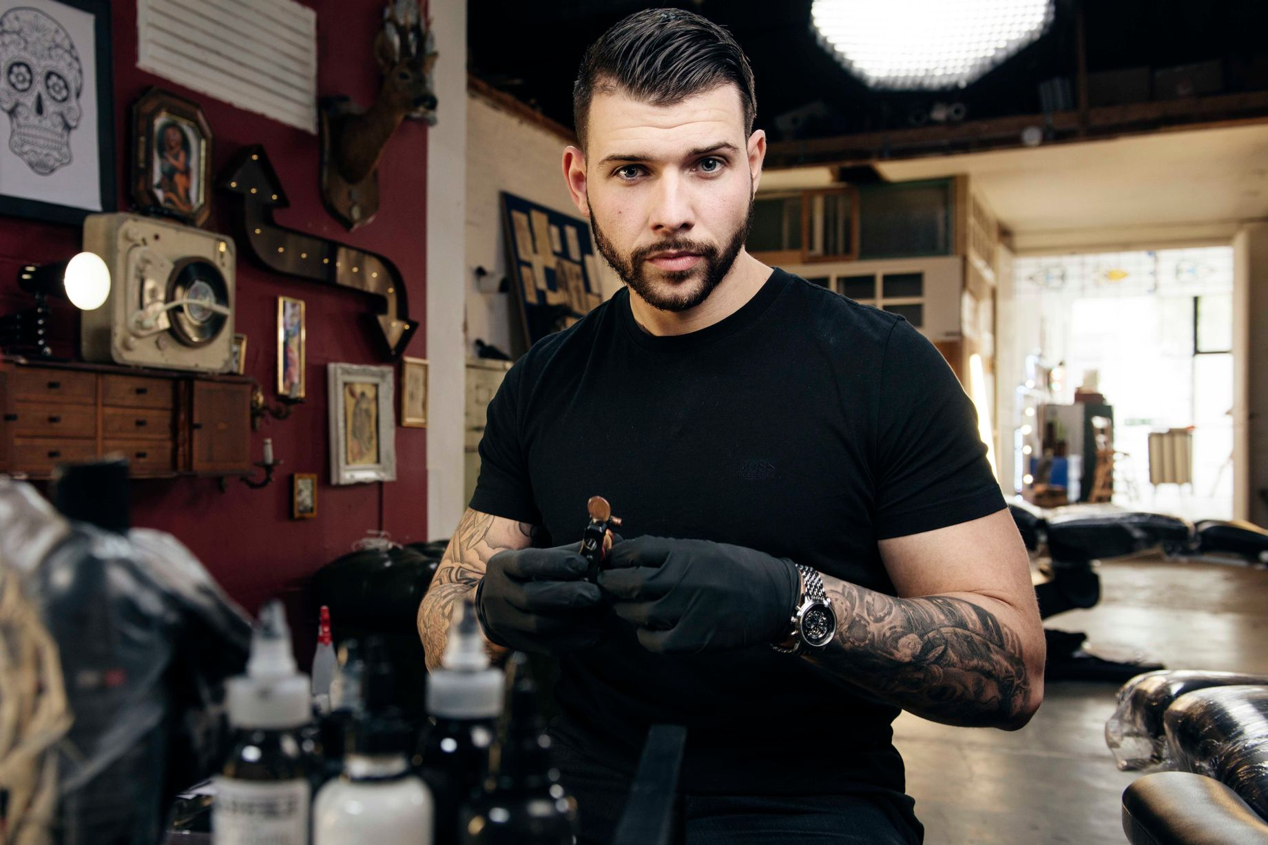 Jay Hutton From Tattoo Fixers Meet Greet At Warehouse