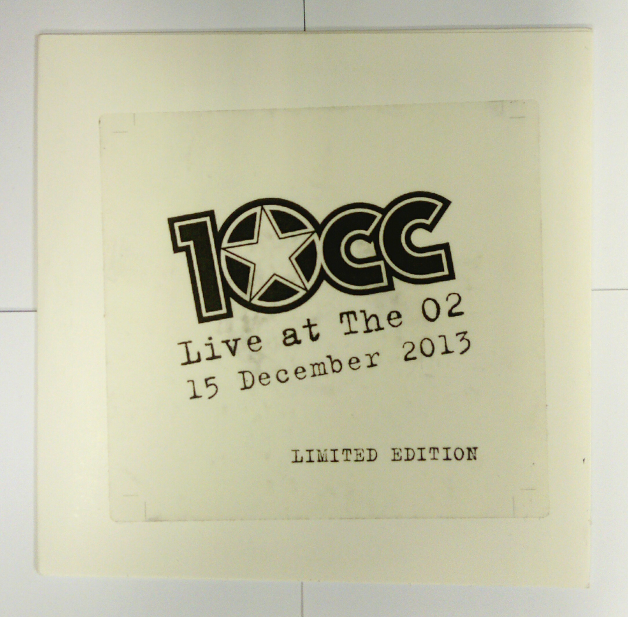 Live At The O2 15th December 2013 CD - 10CC