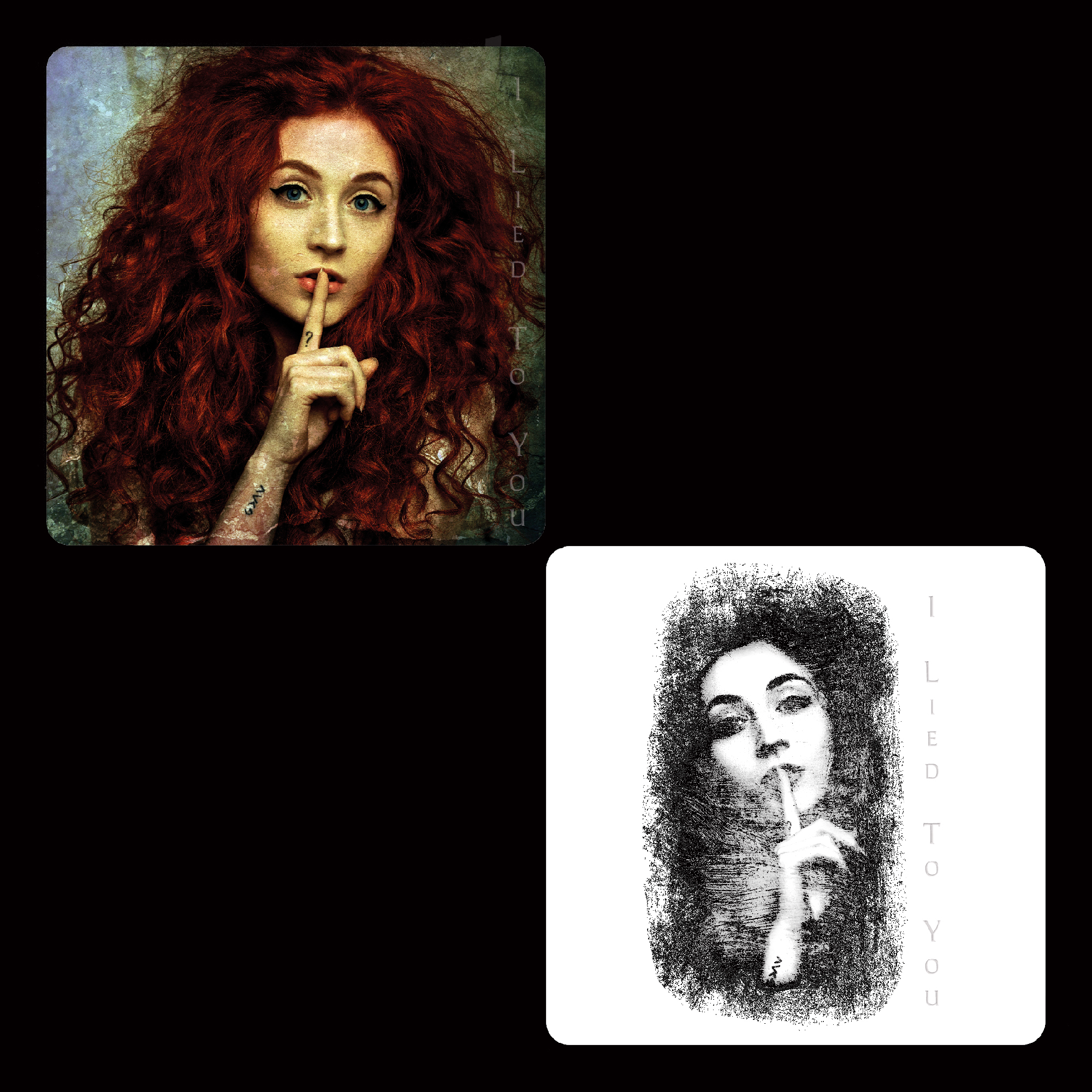 I Lied To You - Coasters - 2 X Designs - Janet Devlin
