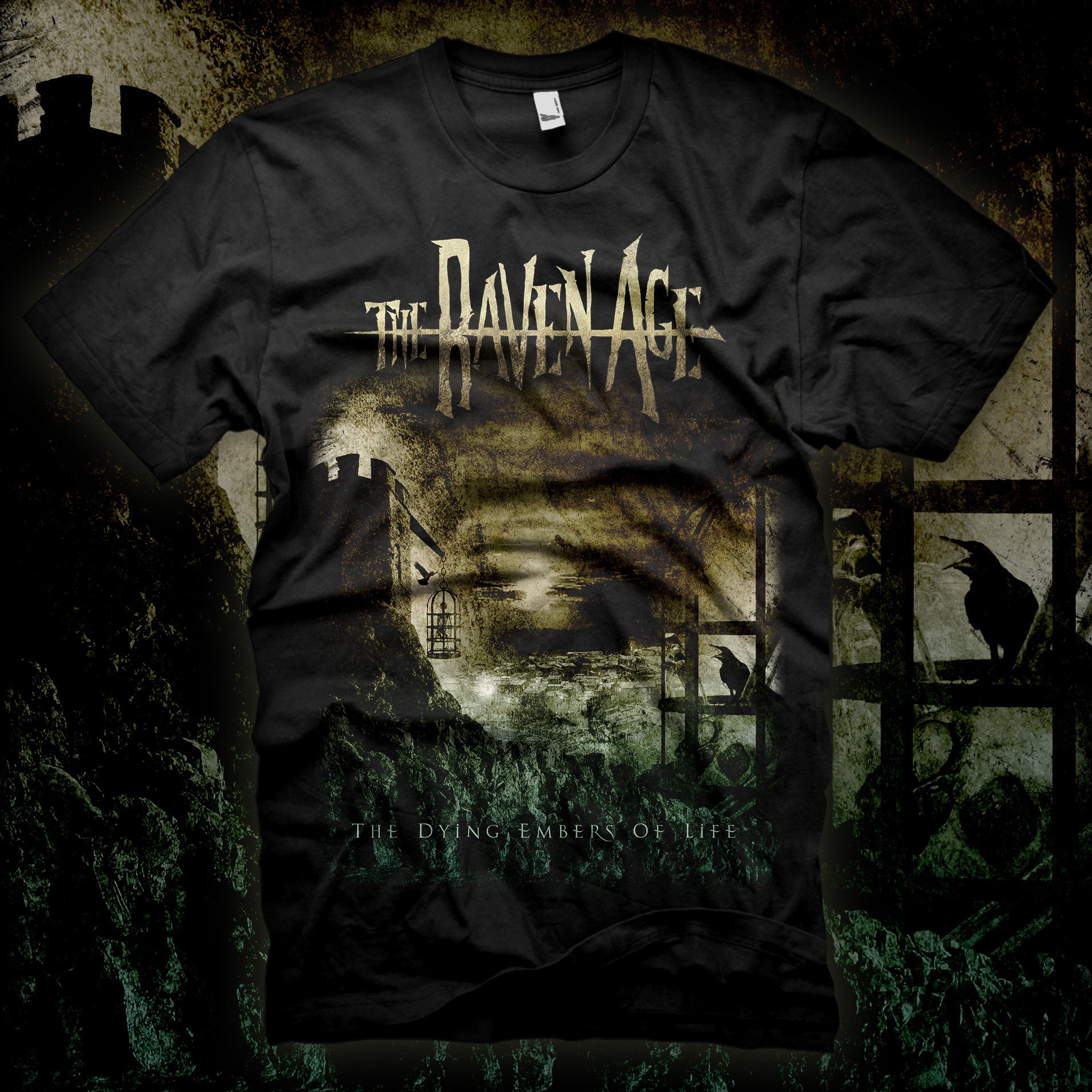 The Dying Embers Of Life - T-shirt Black - The Raven Age