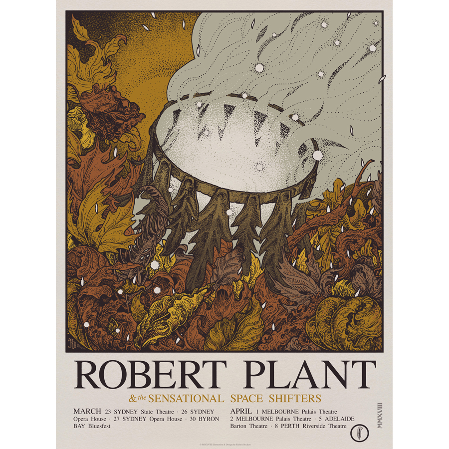 Limited Edition Australian Tour – Numbered Screen Print - Robert Plant