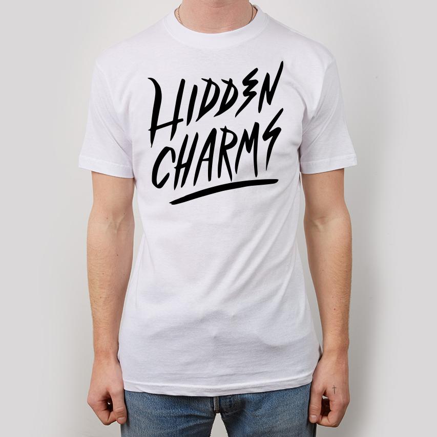 Hidden Charms Logo White T-Shirt - Hidden Charms