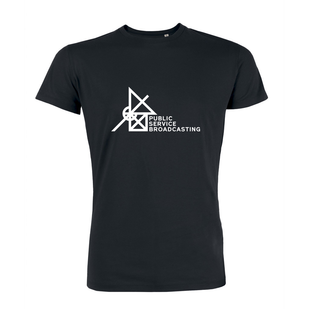 'Every Valley' Logo T-Shirt (Black) - PUBLIC SERVICE BROADCASTING USA