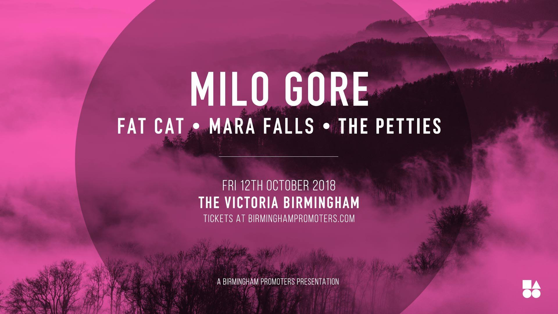 Mara Falls play The Victoria, Birmingham. Supporting Milo Gore - 12th October 2018