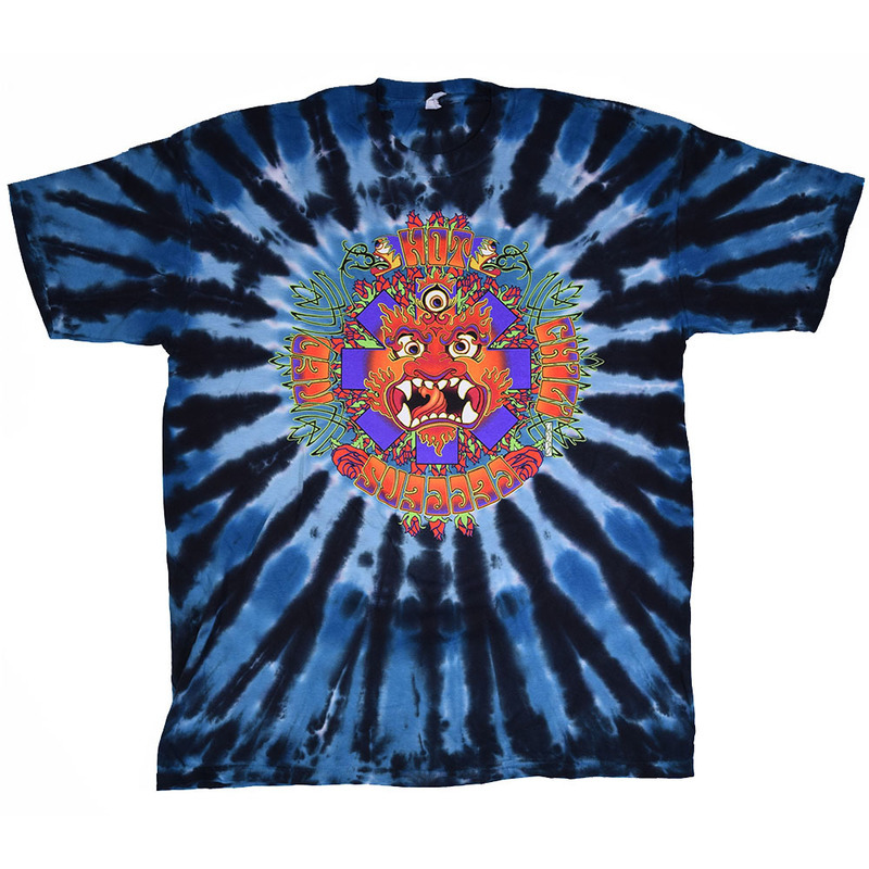 Deity - Blue/Black Tie Dye Tee - Red Hot Chili Peppers