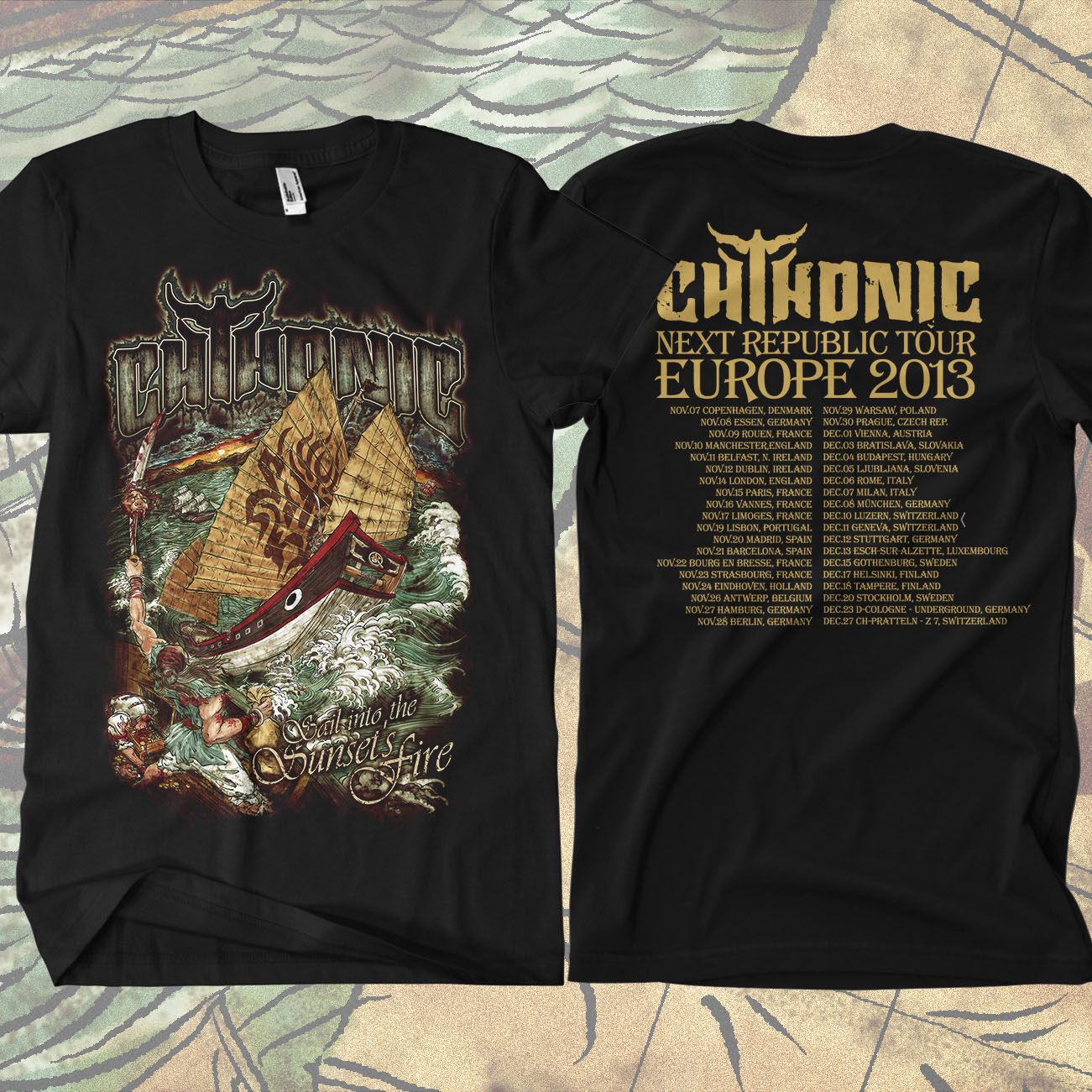 CHTHONIC - Sail Into Sunset's Fire T-shirt - CHTHONIC