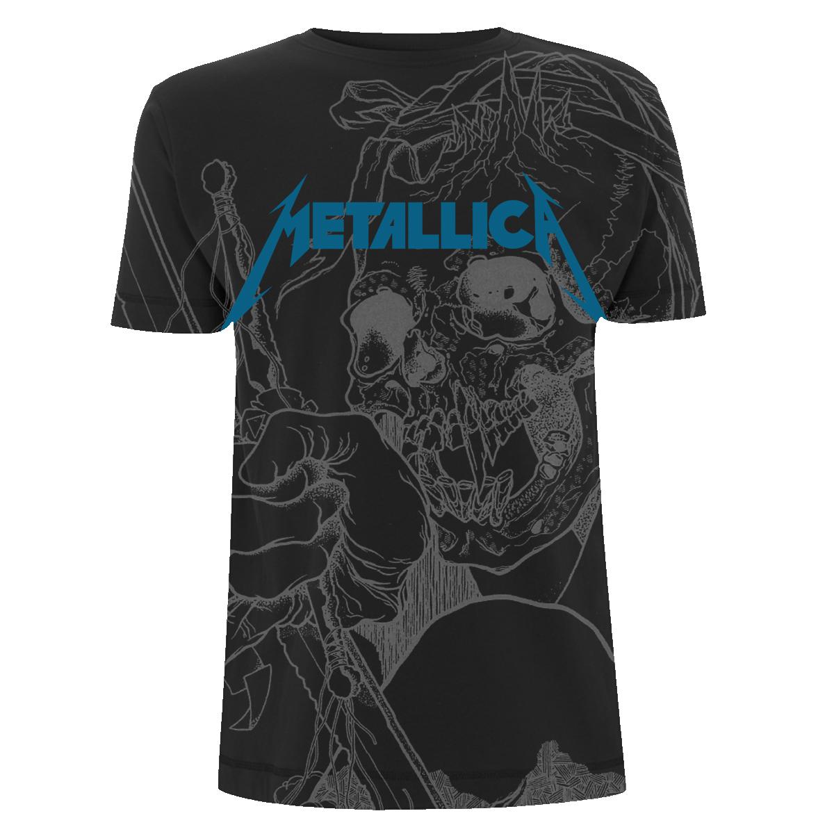 Japanese Justice A/O - Black Tee - Metallica
