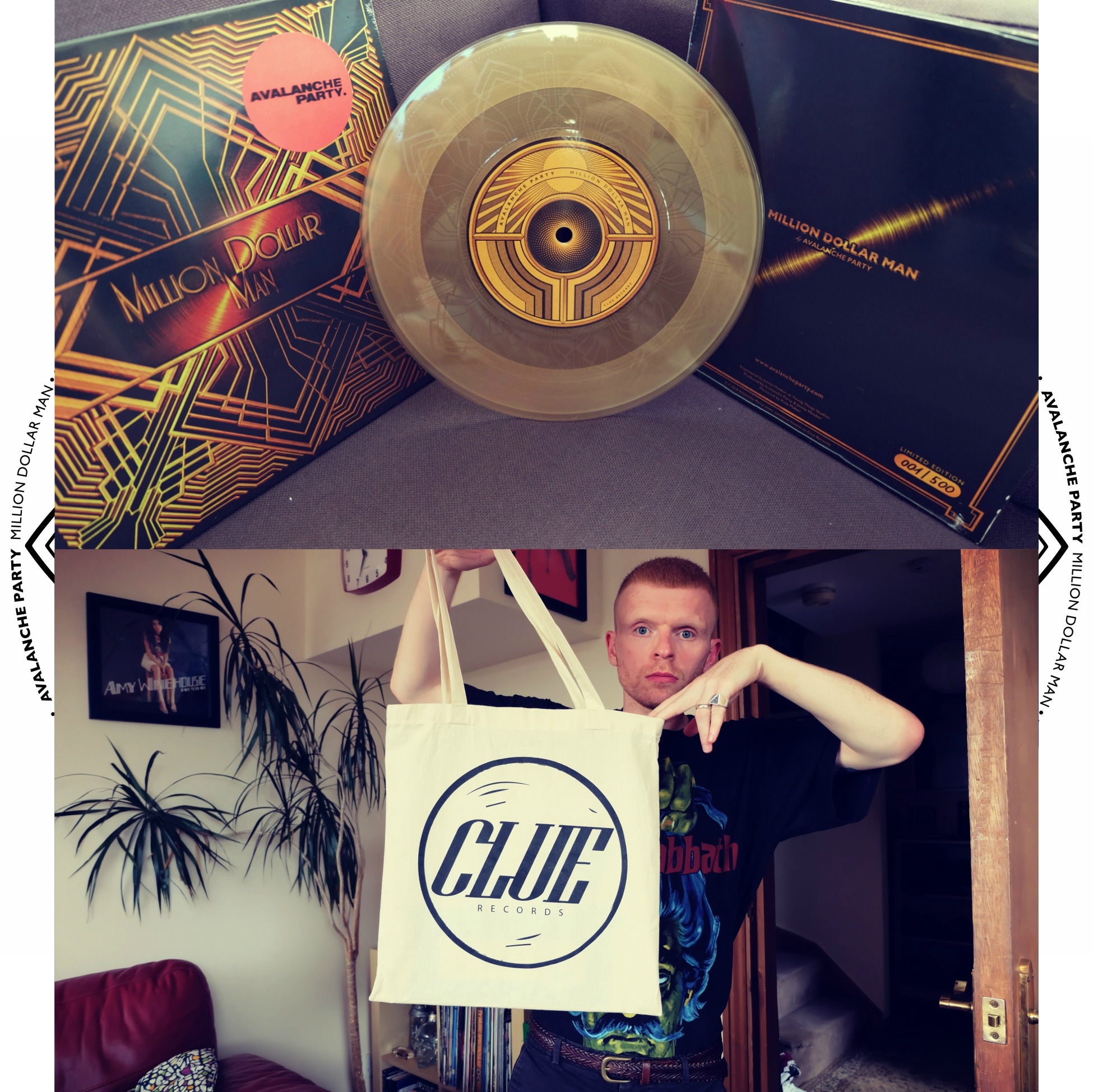 AVALANCHE PARTY VINYL + CLUE RECORDS TOTE BAG [BUNDLE] - Clue Records
