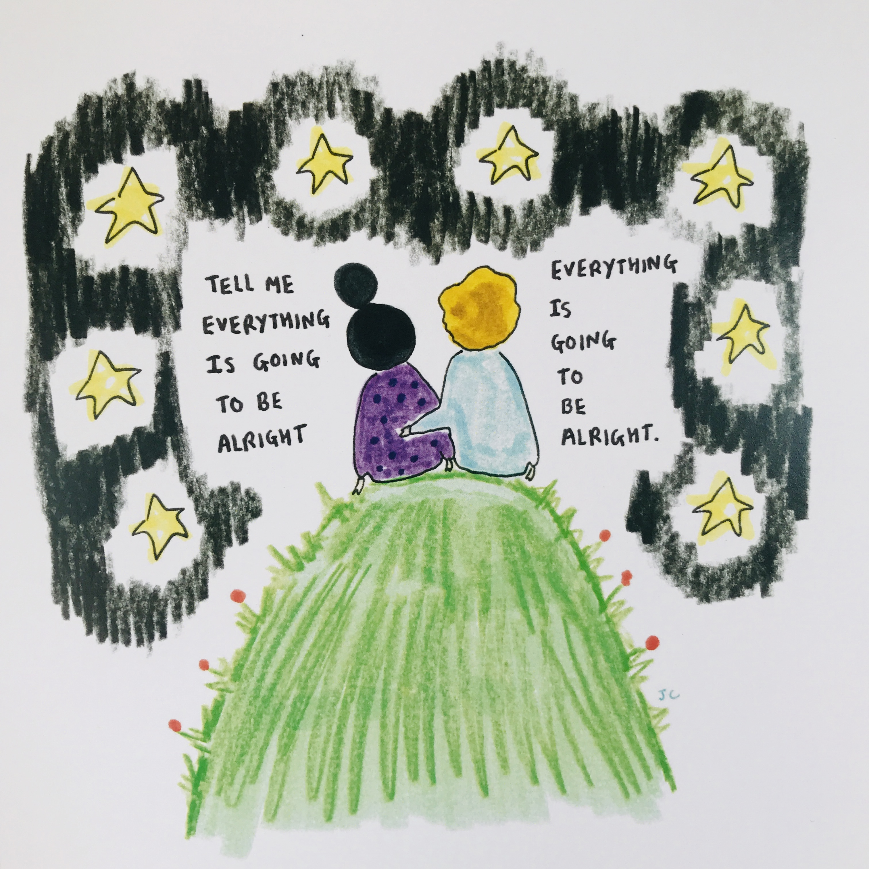 ALRIGHT WITH STARS PRINT - Jessie Cave