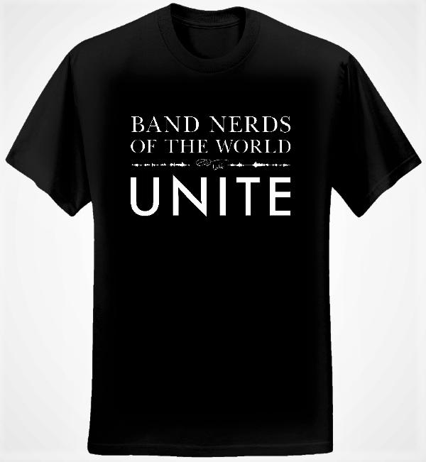Band Nerds of the World Unite T-shirt (Women/Black) - Eric Whitacre