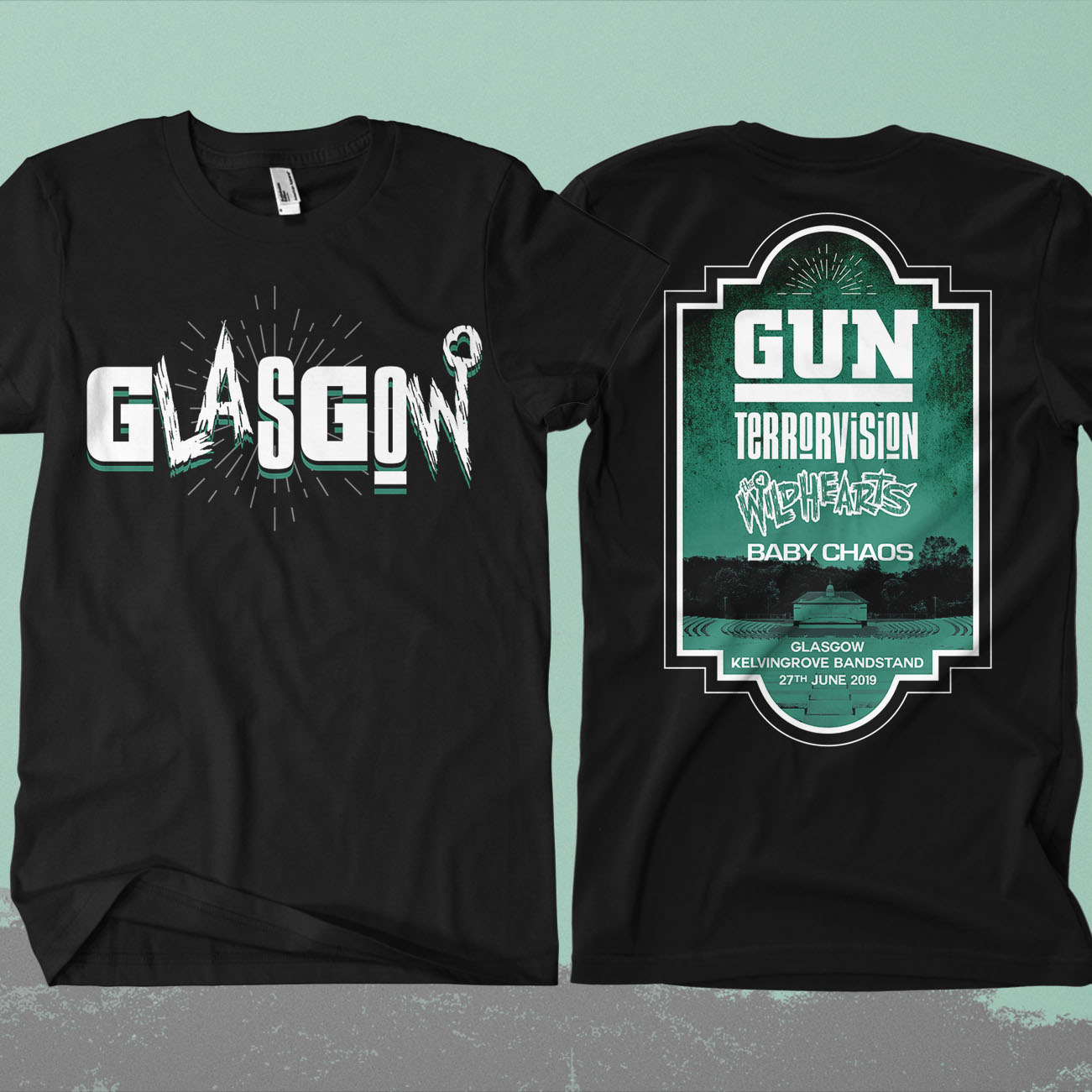 Glasgow Event Shirt Feat. Gun / Terrorvision / The Wildhearts / Baby Chaos - Omerch