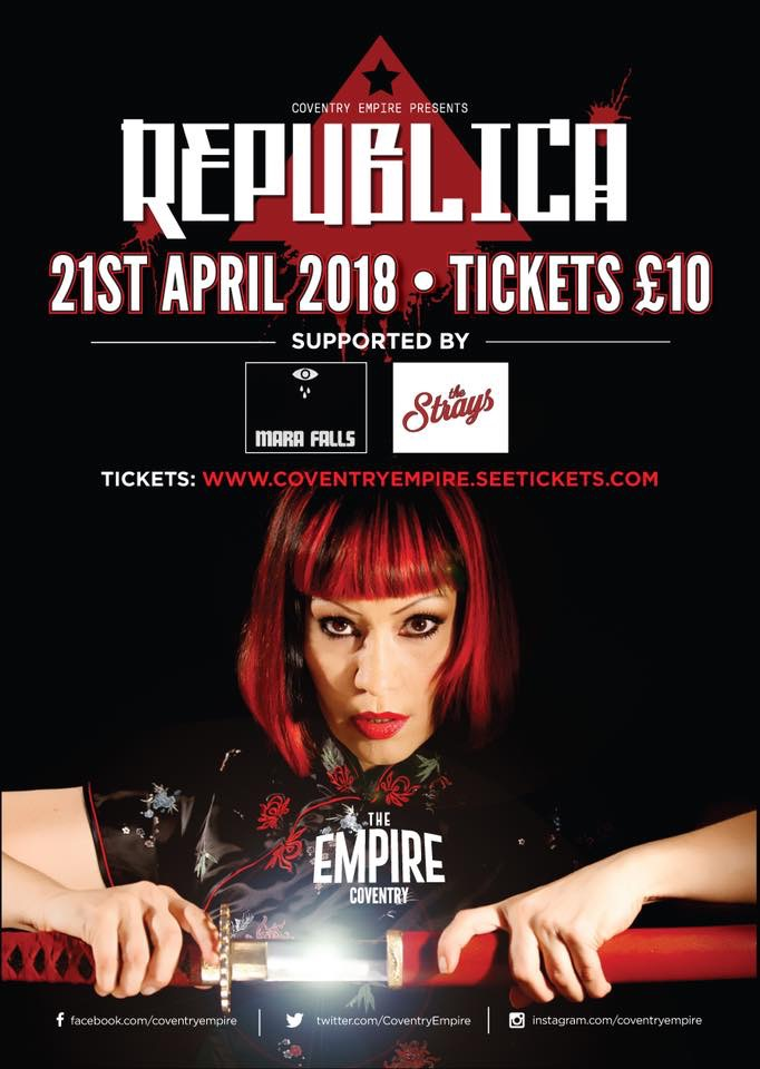 Mara Falls  support Republica @ The Empire, Coventry - 21st April 2018