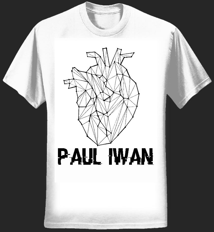 "Paul Iwan - ""White Heart"" Tshirt - Paul Iwan"