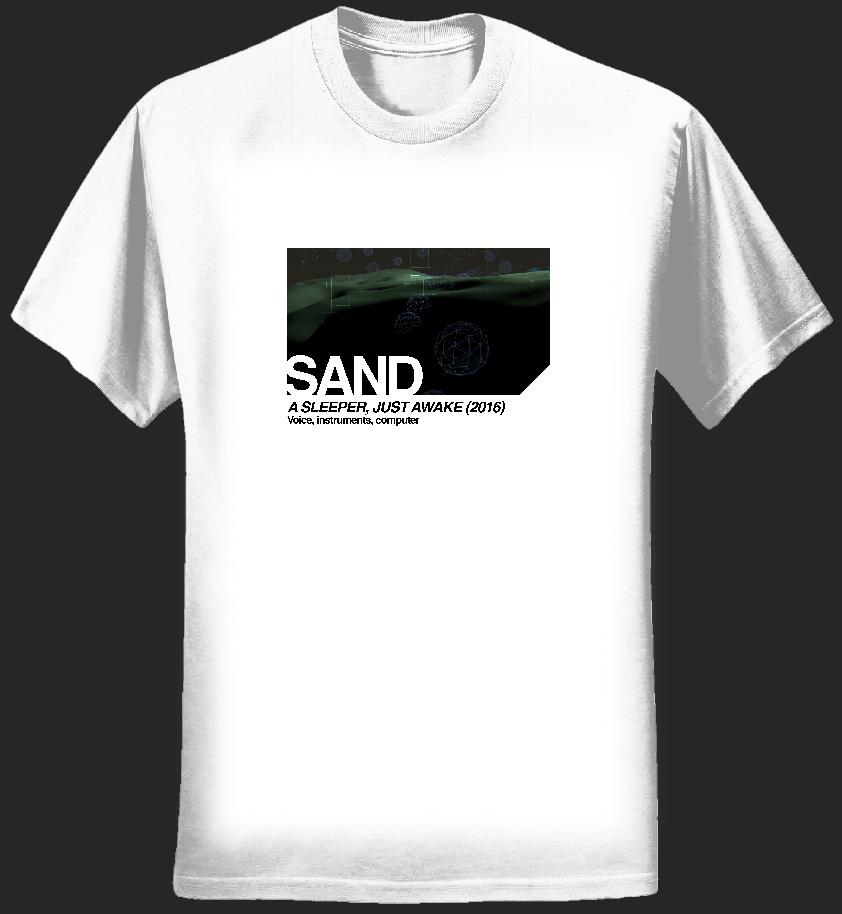 ASJA t-shirt (white, women's, landscape) - Sand